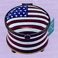 US Postal Stamp Holder Round American Flag