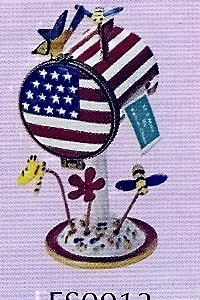 US Postal Stamp Holder American Flag Mailbox