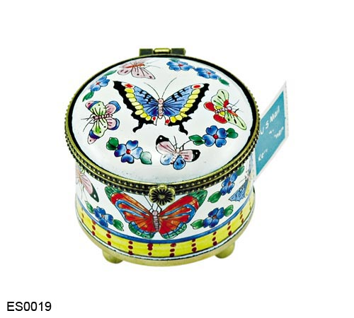 US Postal Stamp Holder Butterflies and Flowers