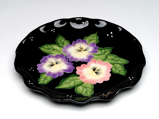 Pansy Luncheon Plates