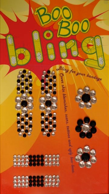 Boo Boo Bling Bandage Cover - Black