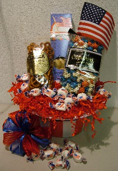 Deb's Treats Stars and Stripes Gift Basket