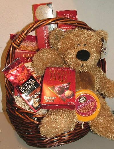 Bear and Gourmet Gift Basket
