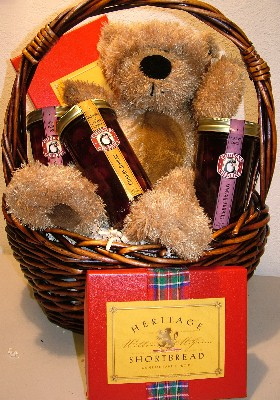 Bear and Preserves Gift Basket