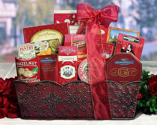 All in Red Holiday Gift Basket