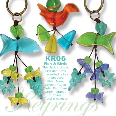 Key Ring Birds and Fish