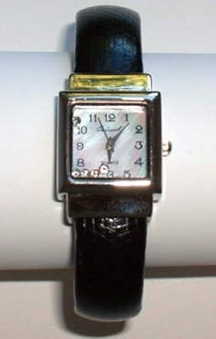 Ladies Bangle Watch with Floating Rhinestones