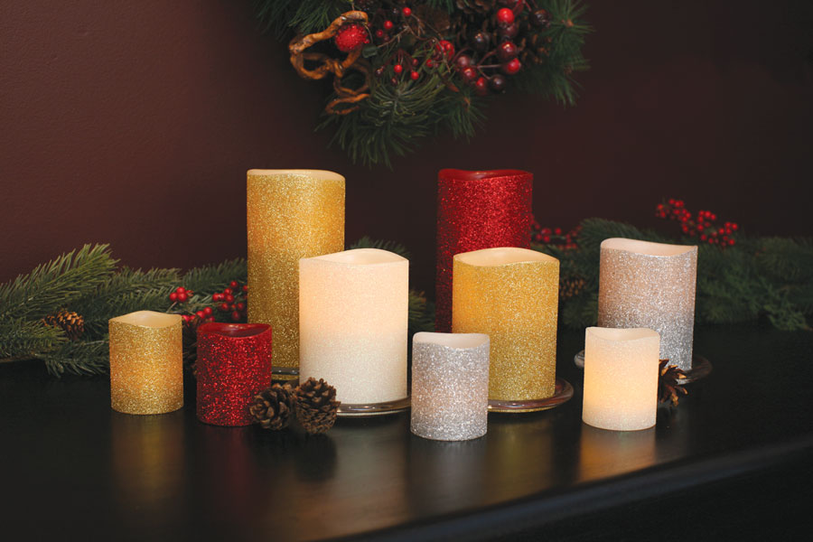 Glitter Battery Operated Candles