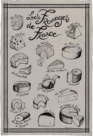 French Artists Club - Linen Dishtowel - Linen Cheese