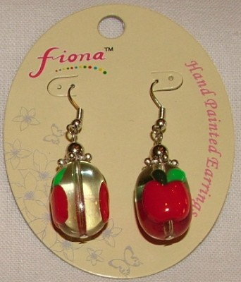 Fiona Earrings - Apple