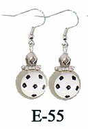 Fiona Earrings - Soccer