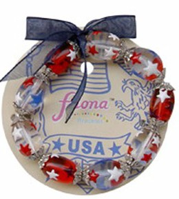 Fiona Stretch Bracelet - USA Stars