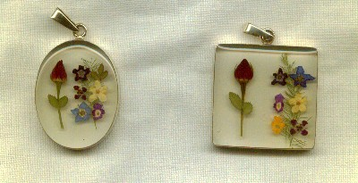 Miniature Flower Pendant