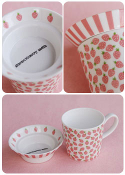 Greeting Life - Strawberry Pink Duex Mug Set