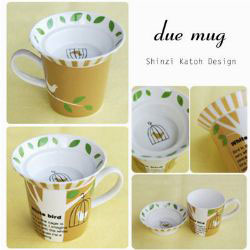 Greeting Life - White Bird Duex Mug Set