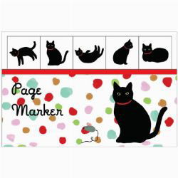Black Cat Page Markers