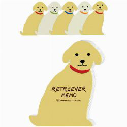 Golden Retriever Memo Pad