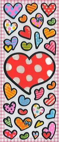 Heart Puffy Stickers