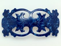 Laurent Olivier Filigree Barrette Perlina Navy
