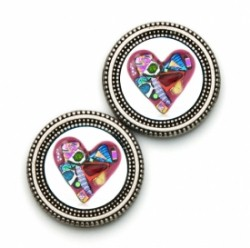 MagneButton Abstract Heart Magnetic Button