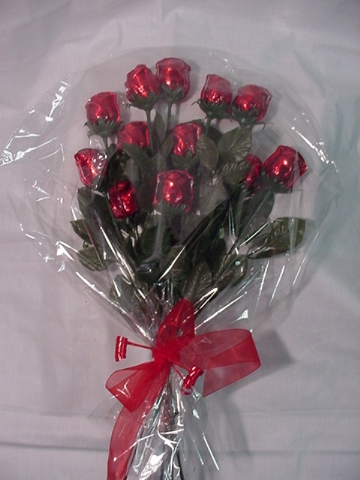 1 Dozen Long Stem Chocolate Roses