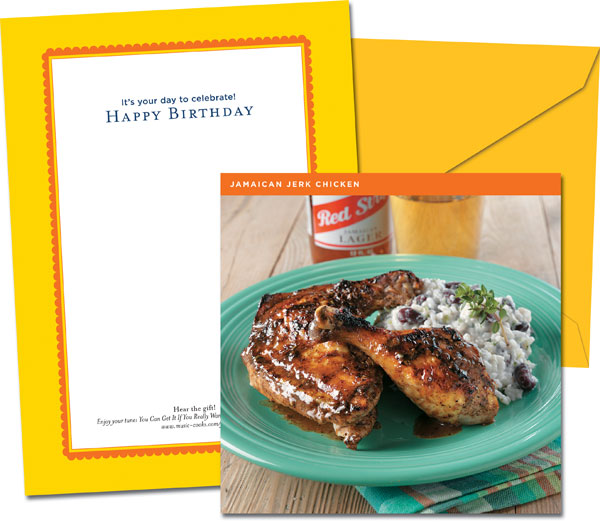 Celebration Card-Birthday-Jamaican Jerk Chicken