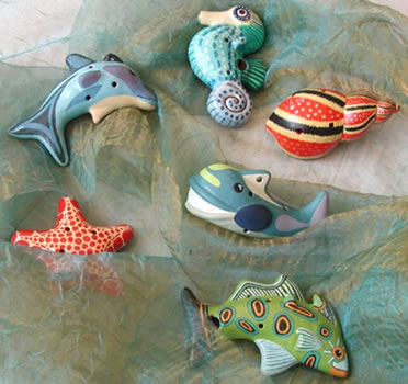 Sealife Ocarinas - Pottery Whistle