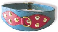 Dog Collar Pink and Blue