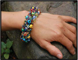 Sol Dancer Multi Color Beaded Bracelet