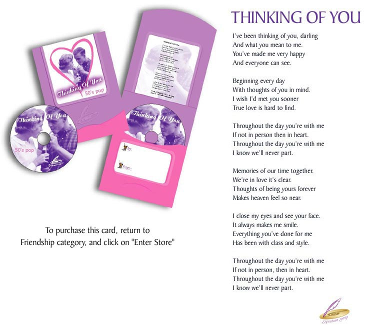 Thinking of You Greeting Card CD - 50's Pop