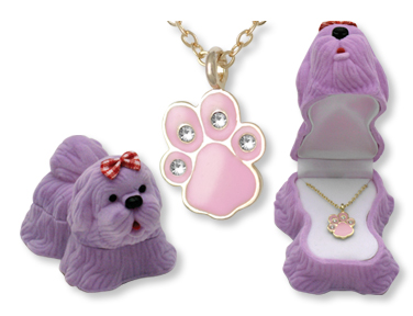 Dog Pendant Necklace for Children