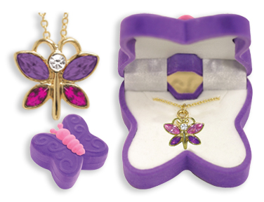 Butterfly Pendant Necklace for Children
