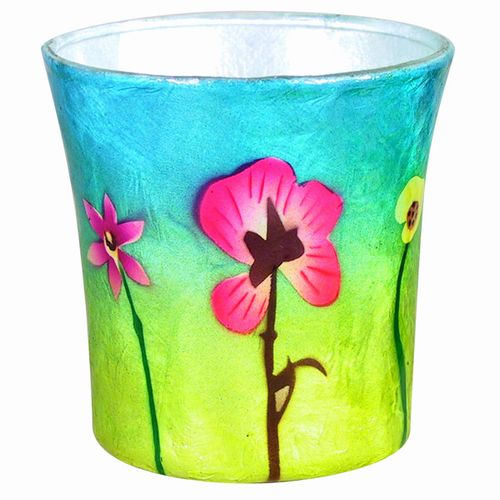 Pansy Sunrise Votive Holder