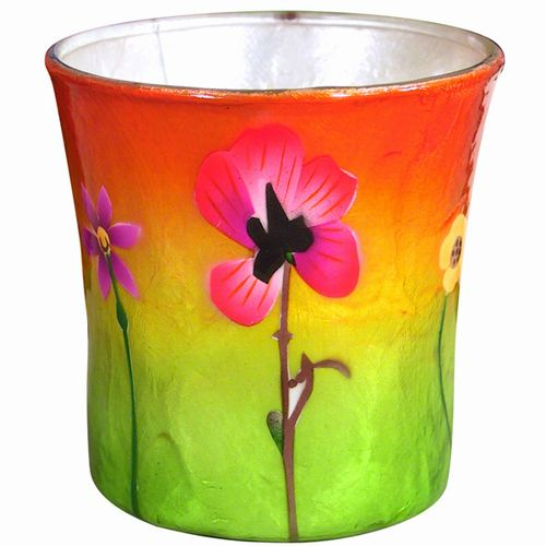 Pansy Sunset Votive Holder