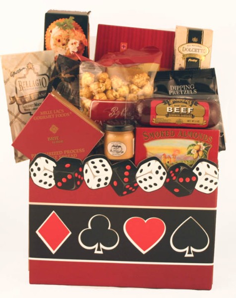 Casino Night Gourmet Gift Basket