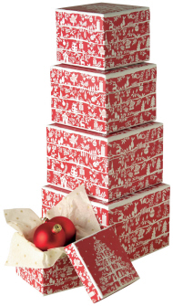 Boston International - Nested Boxes Gourmet Gift