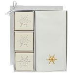 Eco-Luxury Soap Courtesy Gift Set -Gold Foil Embossing -Snowflake
