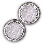 MagneButton Silver Sparkle Magnetic Button