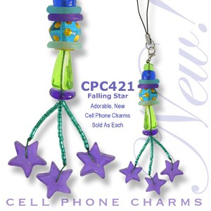 Cell Phone Charm Falling Stars
